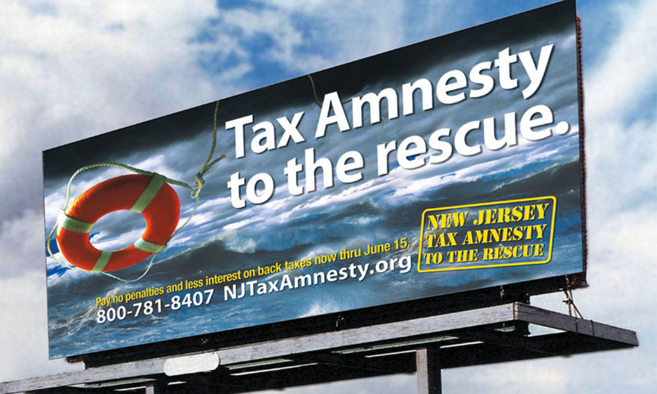 NJ Tax Amnesty OOH billboard