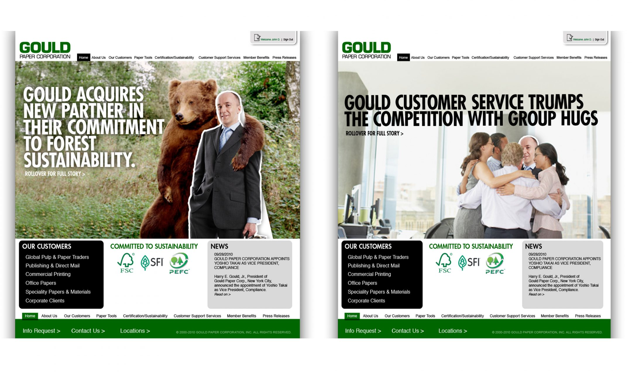 Gould website design